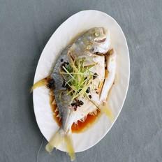 豆豉蒸金鲳鱼