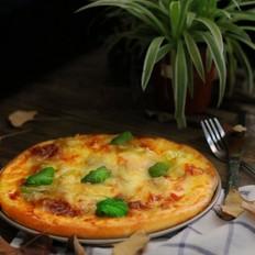 鲜虾鱿鱼披萨