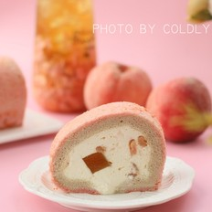 蜜桃乌龙蛋糕卷的做法