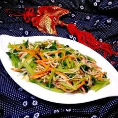 芹菜炒金针菇