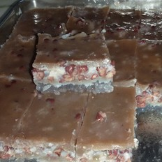 西米椰汁红豆糕