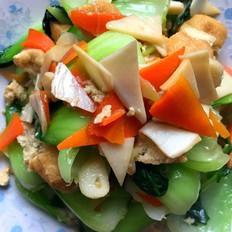 油豆腐炒油菜