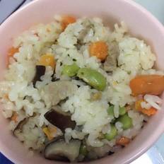香菇萝卜饭