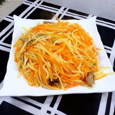 土豆胡萝卜丝炒肉