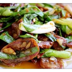 年菜大蒜炒腊肉