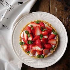 草莓酸奶挞