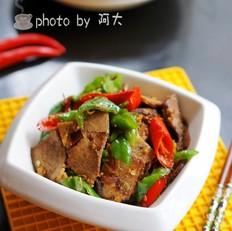双椒炒卤牛肉
