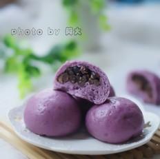 紫薯蜜豆包