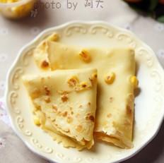 鸡蛋玉米粒软饼