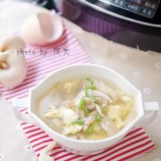 平菇鸡蛋肉丝汤
