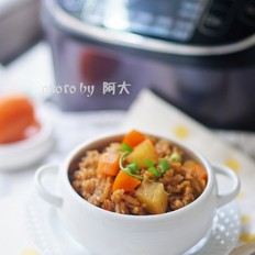 胡萝卜土豆酱油焖饭