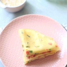 火腿肠鸡蛋软饼