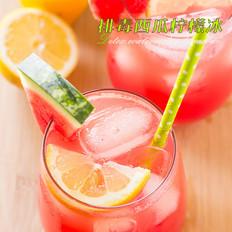 排毒西瓜柠檬冰果汁