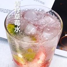 青柠草莓水