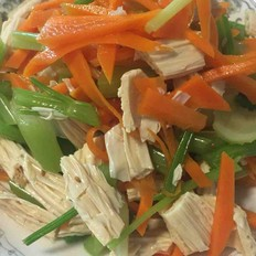 芹菜腐竹胡萝卜