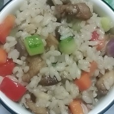 香菇鸡肉炒饭