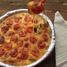 西红柿培根披萨