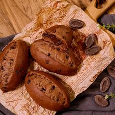 用卡士烤箱960M烤的巧克力甜面包