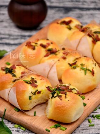 香葱培根面包的做法