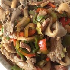 家常肉炒蘑菇