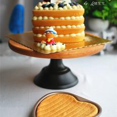 心形裸蛋糕