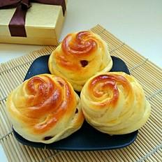 玫瑰花小面包
