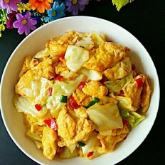 圆白菜炒鸡蛋
