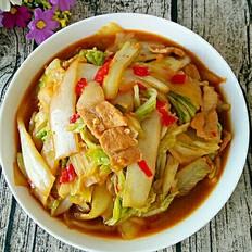 肉片炒白菜
