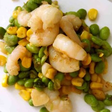 玉米绿豆虾仁