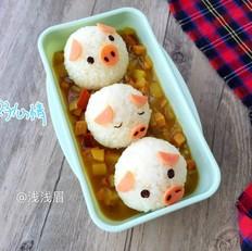 小猪咖喱饭团
