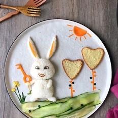 萌萌的爱宠饭团,让孩子爱上素食
