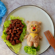 可爱小熊饭团