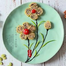 [花开富贵]新春蒸鲜肉蛋卷