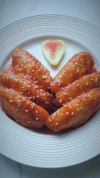 茄汁脆皮鸡翅的做法