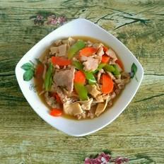 肉炒尖椒干豆腐