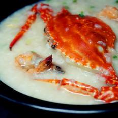 海蟹粥的做法
