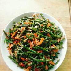 豇豆炒胡萝卜丝
