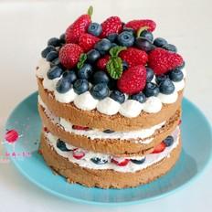 可可海绵裸蛋糕