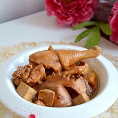 焖炖鸡肉豆腐干