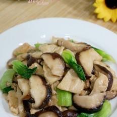 鸡肉香菇油菜