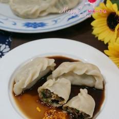 油菜香菇木耳饺子