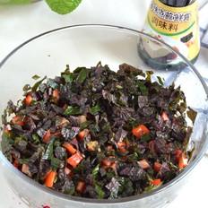 紫苏拌红椒