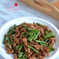 牛肉丝炒豇豆