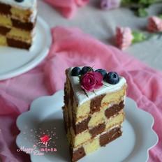 可可棋格奶油蛋糕