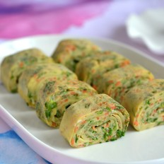 鸡蛋胡萝卜芹菜卷