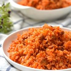 辣白菜炒米饭