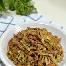 牛肉粉丝炒合菜