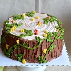 树桩奶油蛋糕