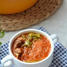 西红柿牛肉粉丝煲