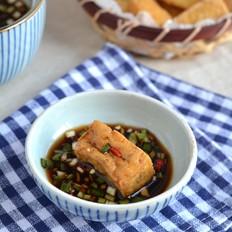 蘸汁酸辣油豆腐